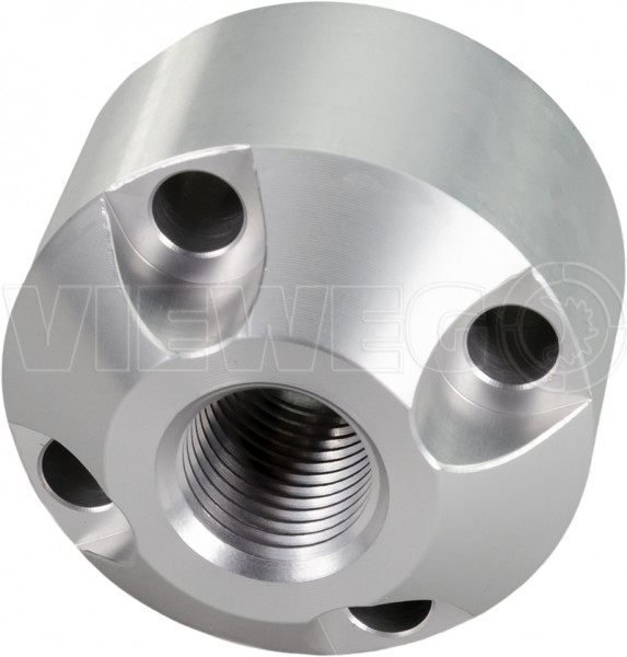 Material outlet block, aluminum