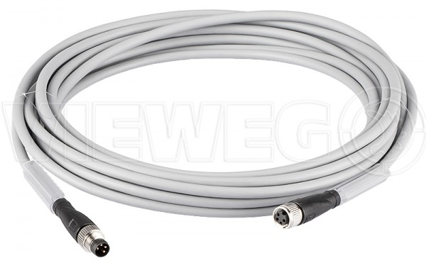 Sensor extension cable M8 4-pin 5m gr